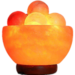 Pak Salt Lamps Bowl Lamp With Massage Ball